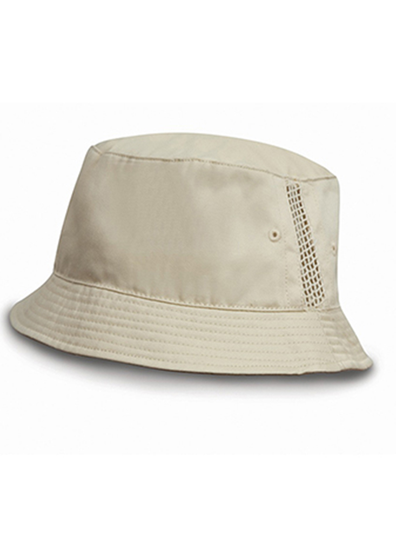 Result Deluxe Washed Cotton Bucket Hat With Side Mesh